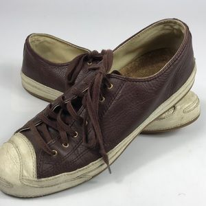 Converse Jack Purcell Leather Brown Shoes Size 9.5